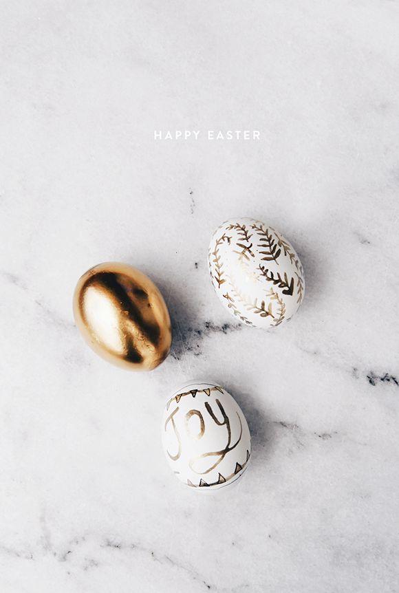 easter eggs, eggs, happy easter, golden eggs