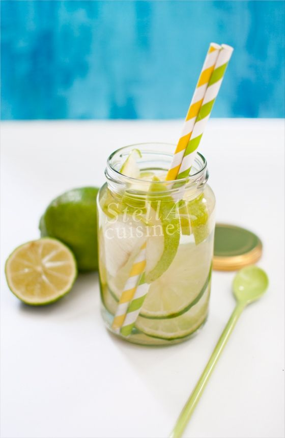 apple lemon water, detox water recipe
