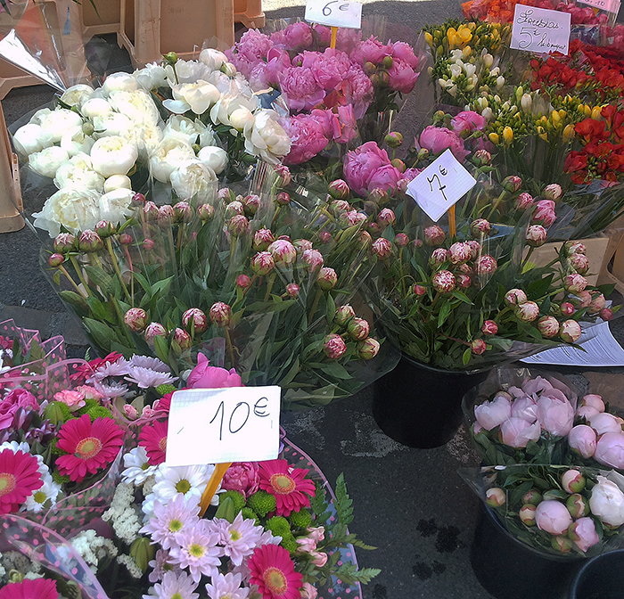 flowers, market, south of france