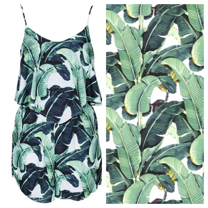 Banana leaf jumpsuit