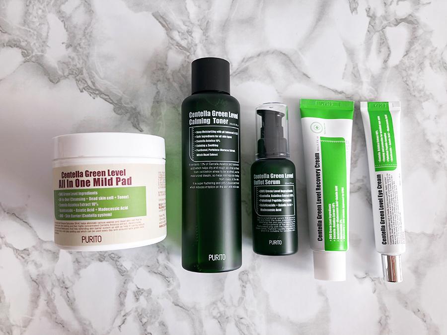 korean skin care routine summer_purito_centella green