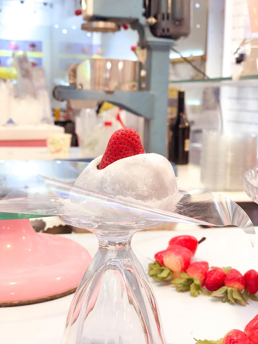 jiufen taiwanese food strawberry mochi