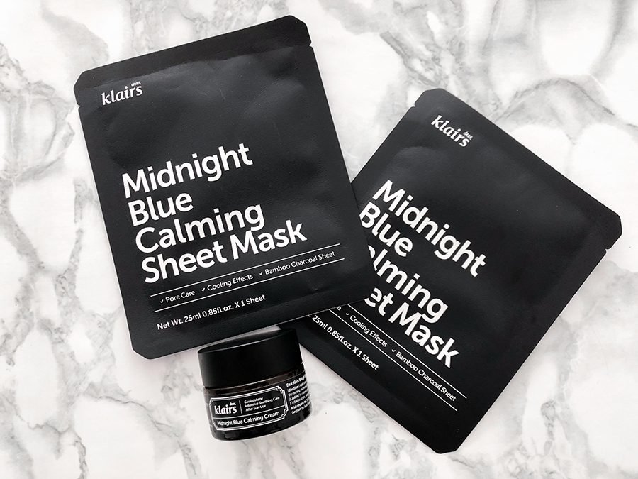 klairs midnight blue calming cream and sheet mask_1