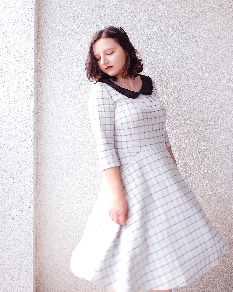 back to school outfit- collar check dress - joanie clothing 3