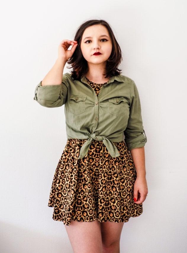 How to wear a leopard print dress in fall
