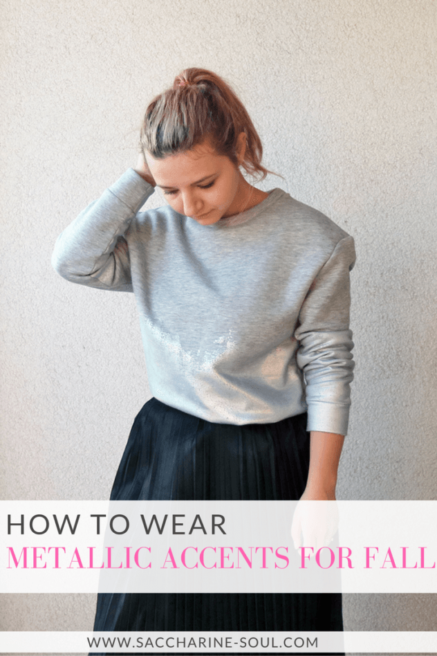 How to Wear Metallic Accents for Fall