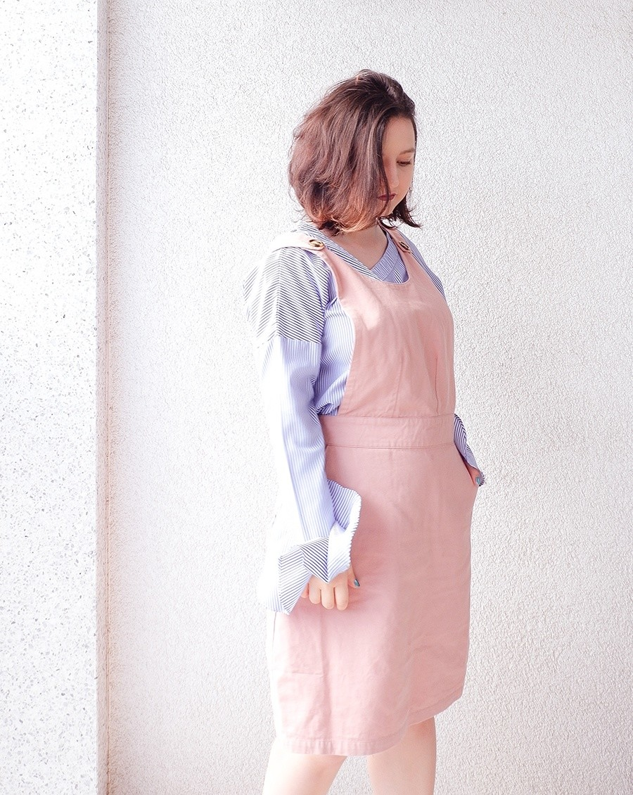 Back to School Outfits: Pink Pinafore & Collared Dress 