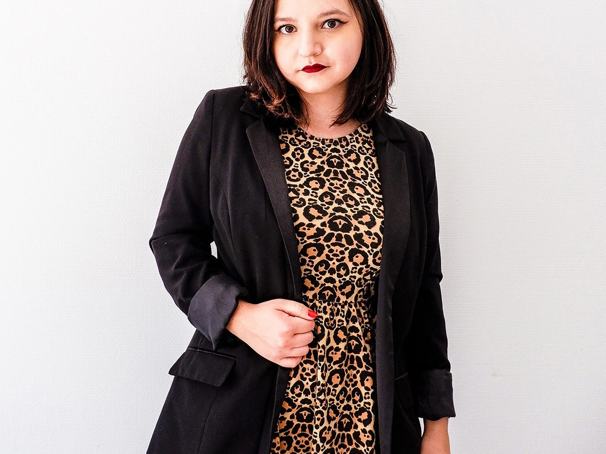 How to wear a leopard print dress in fall