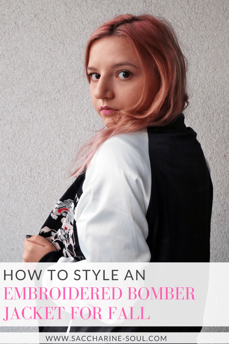 How to Style an Embroidered Bomber Jacket for Fall