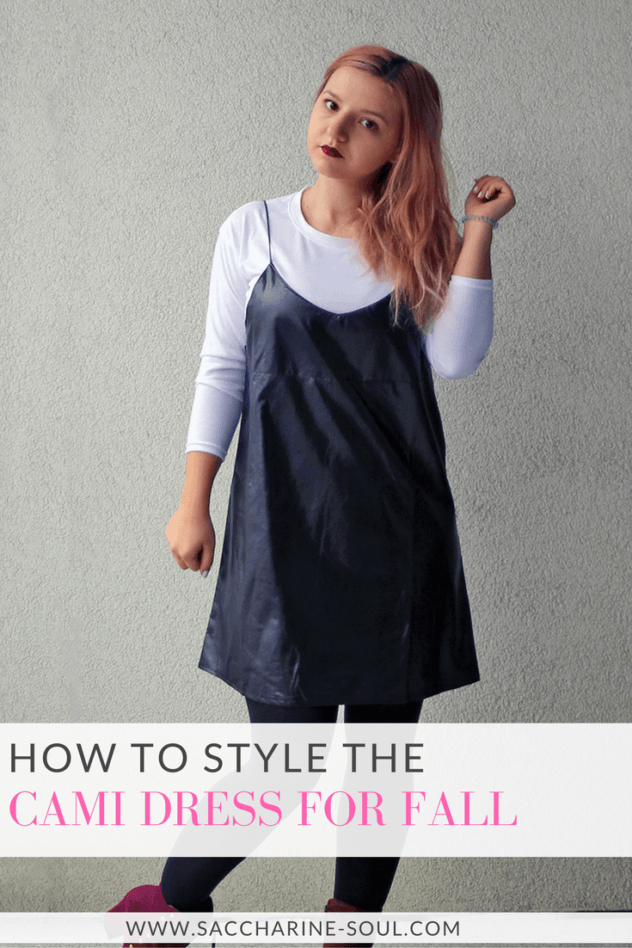 how to wear a cami dress in winter